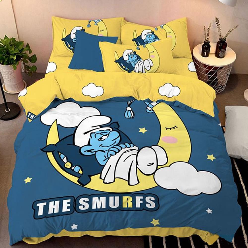buy smurfs bedlding set online