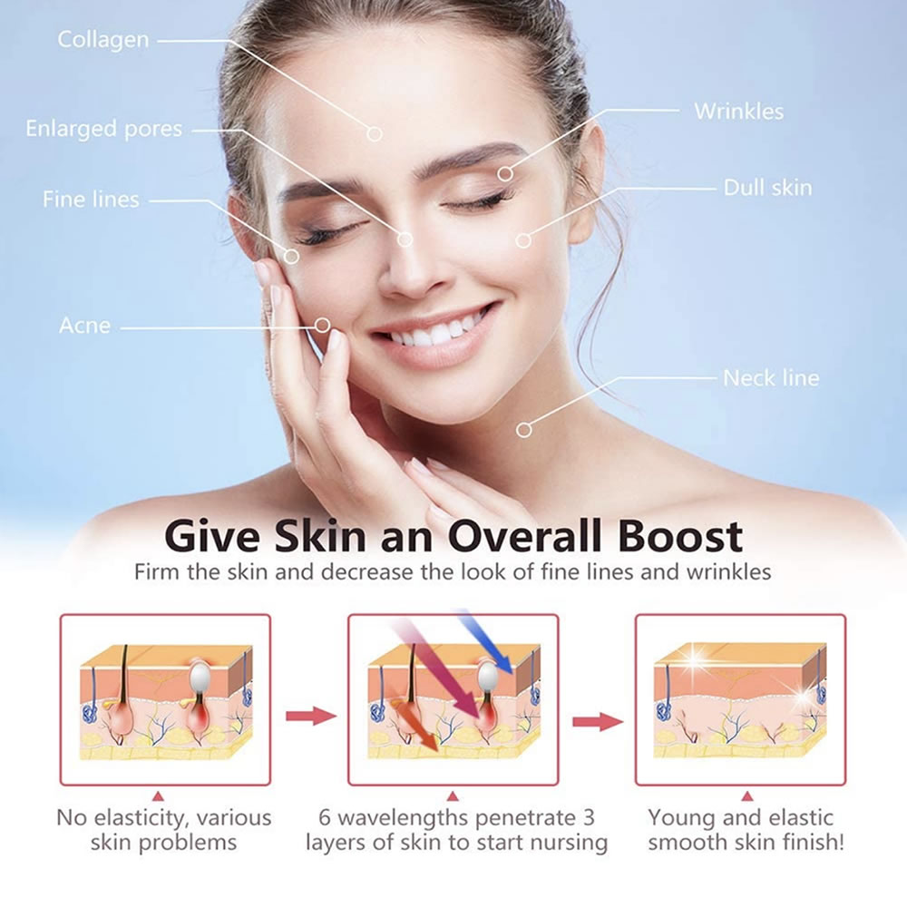 home led light therapy facial