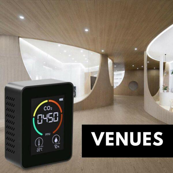 measuring carbon dioxide in venues
